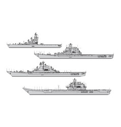 soviet aircraft carriers vector image