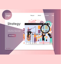 strategy website landing page design vector image