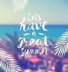 Summer hand drawn calligraphy vector