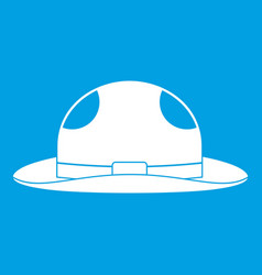 Summer hat icon white vector