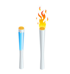 torch flame icon or symbol design isolated on vector image