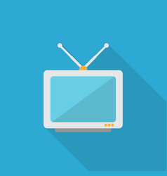 tv icon set of great flat icons with style long vector image