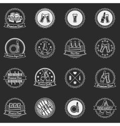 White beer labels or badges set - logos for design vector