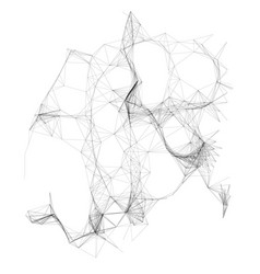 abstract broken fantastic background vector image