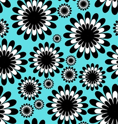 abstract monochrome floral seamless pattern vector image