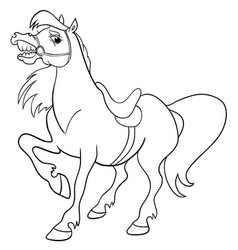 baby horse pony foal element for design isolated vector image