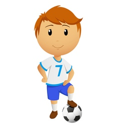 cartoon footballer vector image