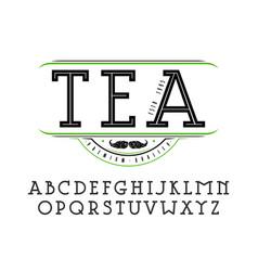 decorative slab serif font vector image vector image