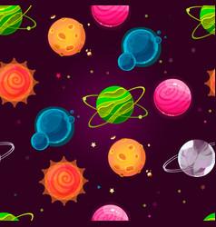 fantasy planet pattern vector image