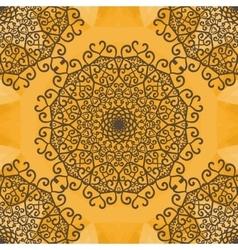 Mandala Print Indian Yoga Ornament kaleidoscopic vector image