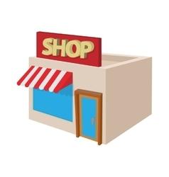 Shop building icon cartoon style vector image