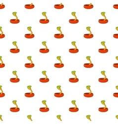 Cobra pattern cartoon style vector image