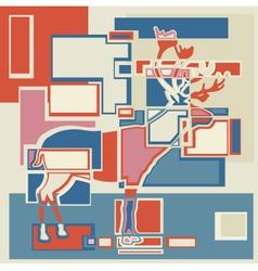 Reindeer blocks vector image