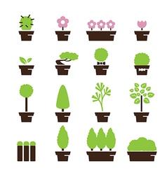 tree pot icon vector image