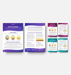 brochure template in wavy design elements vector image
