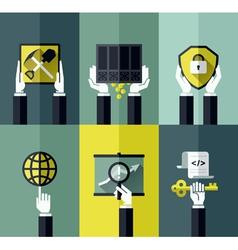 Digital currency modern flat design concept vector image vector image