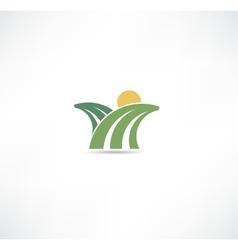 Field icon vector