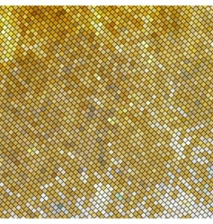 golden mosaic vector image