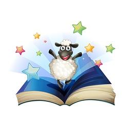 Happy Sheep Book vector image