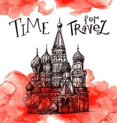 Stock World famous landmark series Kremlin vector image vector image