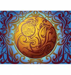tribal sphere vector image vector image