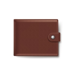 Brown Leather Wallet Isolated on White Background vector image vector image