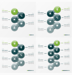 infographic set of designs with ellipses 5-8 vector image vector image