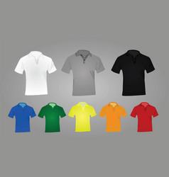polo shirts vector image vector image