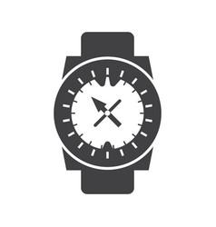 underwater sport watch compass icon vector image vector image