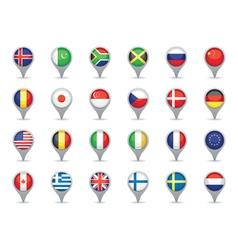 World flag pointers vector