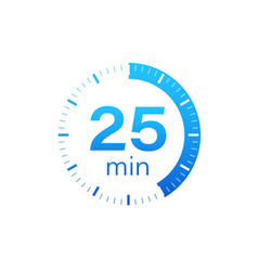 25 minutes stopwatch icon stopwatch vector