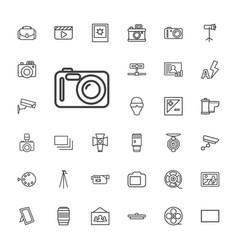 33 camera icons vector