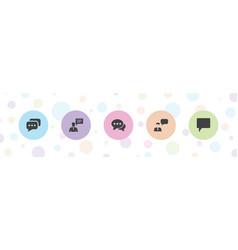 5 dialog icons vector