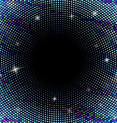 Abstract background with dotted circles vector image