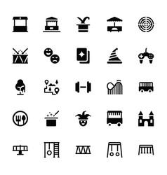 Adventure park glyph icons vector