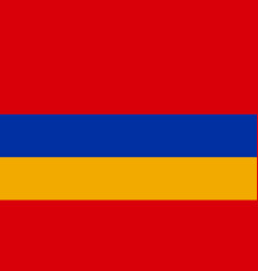 Armenian national flag with official colors vector