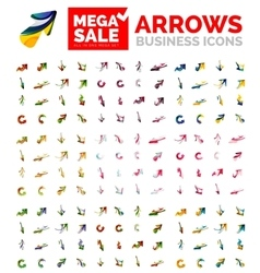 Arrow concept mega set - direction rotation vector image