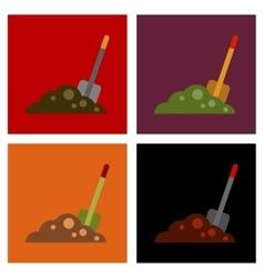 assembly flat icons halloween Plot shovel vector image