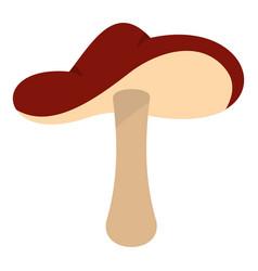 Autumn mushroom icon isolated vector