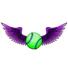 baseball ball design element drawing vector image