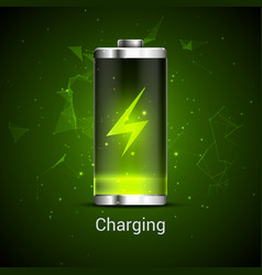 battery charge full power energy level recharge vector image