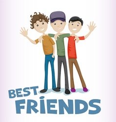 Best friends vector image