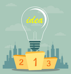 Best podium place for inventions vector