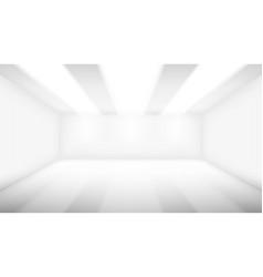 Big empty room with lighting vector