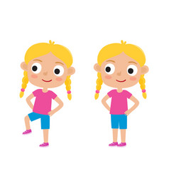 Blondy girl in exercise vector