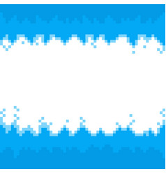 blue abstract pixel bordersframe with space for vector image