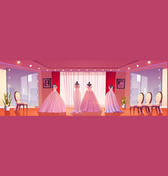 bridal shop interior wedding dresses on mannequins vector image