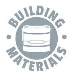 Building material logo simple gray style vector