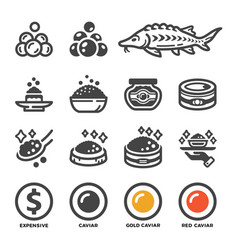 carviar icon set vector image
