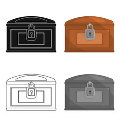 Chest icon cartoon singe western icon from the vector